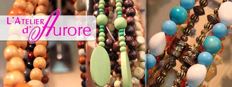 Création de colliers avec des perles en bois